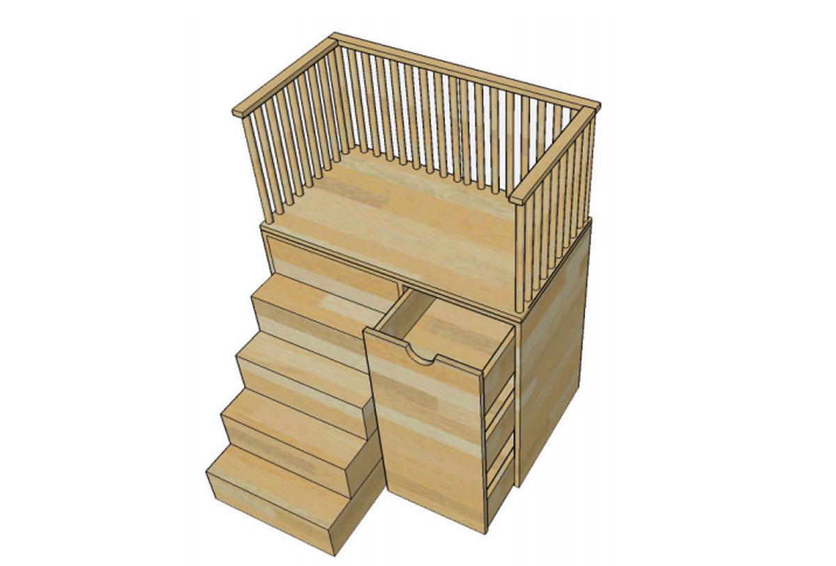 Trocador Primeiríssima com Escada e Gavetas