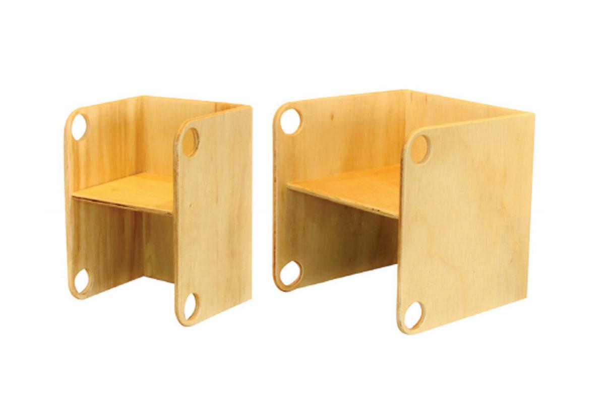 Cadeira Cubo Três Alturas