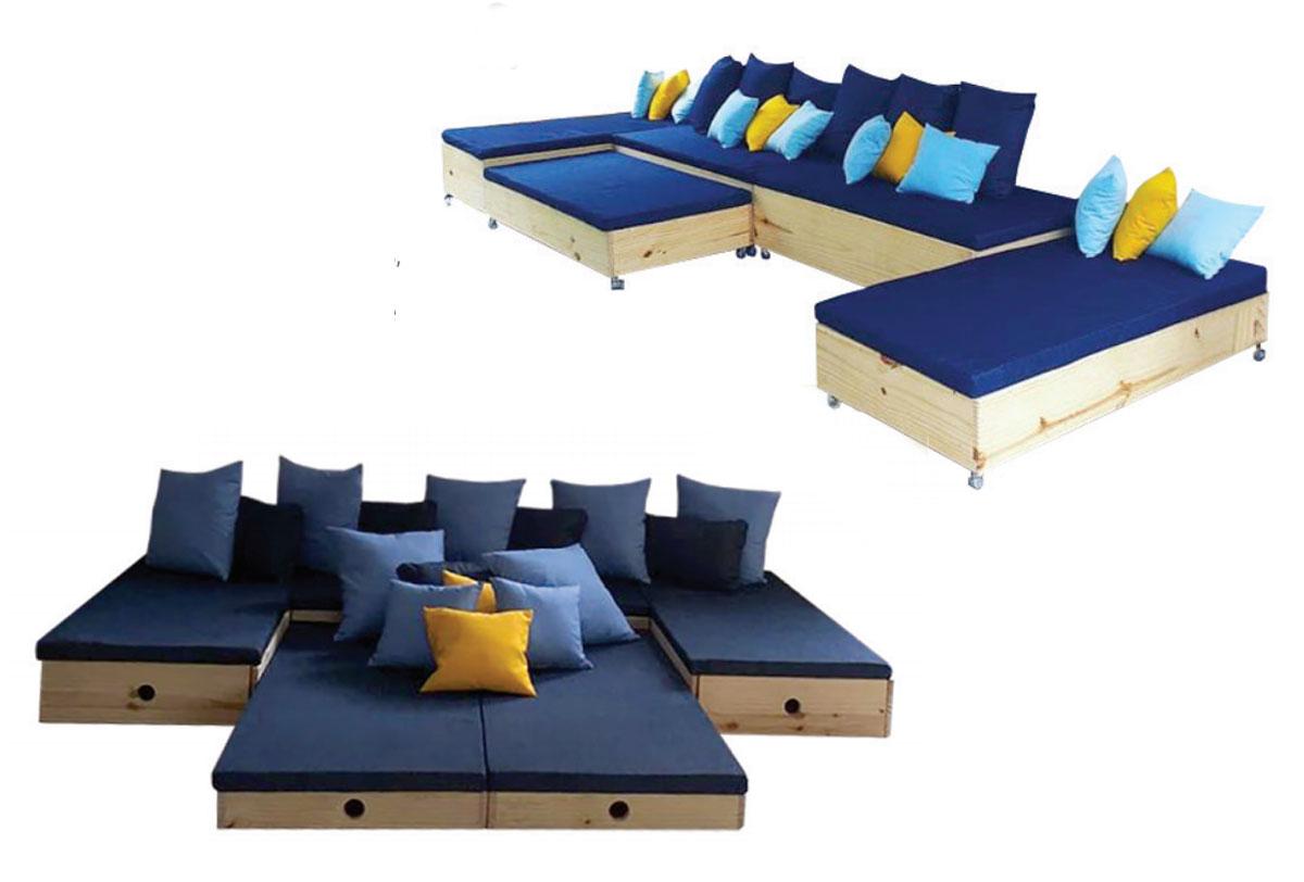 Sofá modular completo