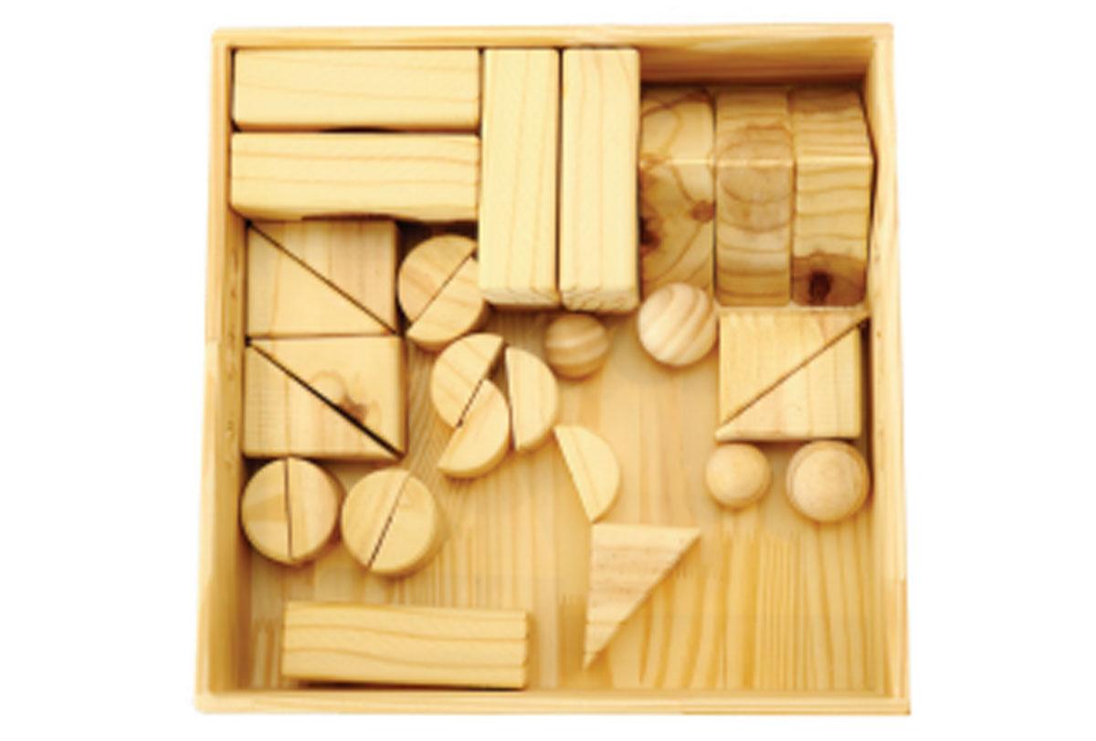 Caixa de blocos grossos - 30 peças